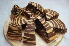 Κέικ σοκολάτας ριγέ. Ένα κέικ σοκολάτας με ριγέ εμφάνιση...