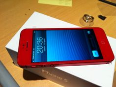 New fresh iPhone 5 in red...