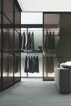 jealousyyouhavetoearn:  Success is the only Option! Going Huge  - a Gentleman's Blog Sliding Door Systems, Sliding Doors, Closet Designs, Space, Modern, Home Decor, Dressing Room, Closets, Furniture Design