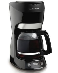 Hamilton Beach 49467 12 Cup Coffeemaker with Digital Clock - http://teacoffeestore.com/hamilton-beach-49467-12-cup-coffeemaker-with-digital-clock/