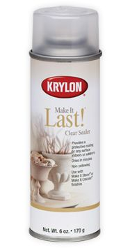 A clear sealer for all of my glitter and painting shoe pins. http://www.krylon.com/products/make_it_last_clear_sealer/