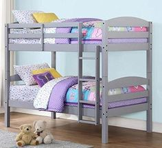 Mainstays Twin Over Twin Wood Bunk Bed, Gray Mainstays http://www.amazon.com/dp/B00WF8UEHE/ref=cm_sw_r_pi_dp_1Nadxb1QH6VBF