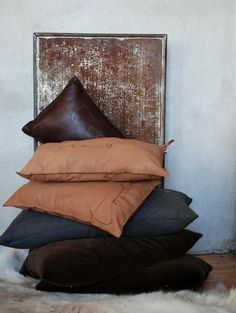 Earth colored pillows