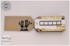 PaperNova Design - Blog mini album, tag, chipboard, cork, wood