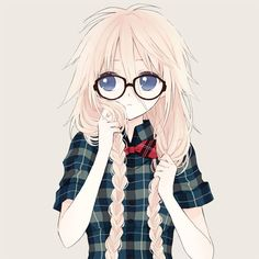 anime girl with glasses ;)