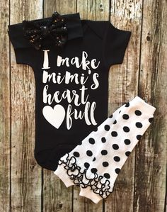 A personal favorite from my Etsy shop https://www.etsy.com/listing/454355284/baby-girl-bodysuit-i-make-mimis-heart