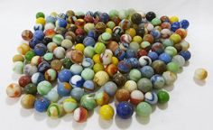 Marbles vintage lot of 158 in various sizes colors by MashliDesign
