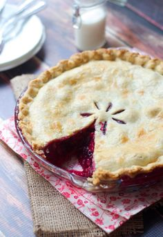 Mixed Berry Pie via The Baker Chick