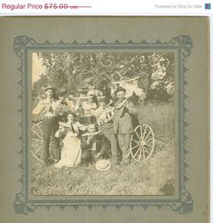 Picnic on a Wagon Friends and Family by FamilyTreeAntiques on Etsy, $52.50