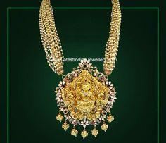 Basra Pearls Temple Jewellery Haram #GoldJewelleryTemple