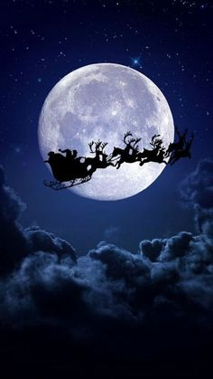 Clair de lune Christmas Feeling, Christmas Night, Christmas Art, Vintage Christmas, Christmas Phone Wallpaper, Holiday Wallpaper, Winter Wallpaper, Christmas Images Wallpaper, Winter Scenery