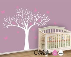 Nursery Tree Wall Decal Wall Sticker  Tree Wall by WallConsilia, $76.00