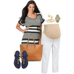Maternity Fashion by howhauteisthat, via Polyvore
