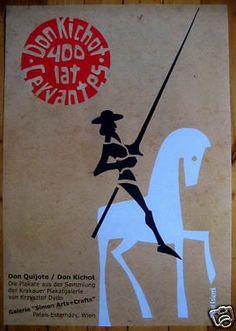 Don-Quixote-Don-Kichote-Ksiazek-Polish-Poster