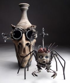 steampunk jars, Mitchell Grafton creation