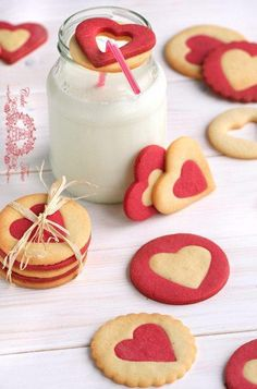 | Butter Heart Cookies Inspiration / No recipe   I via Tumblr