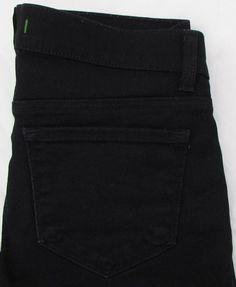 Women J Brand The Deal Skinny Leg Black Jeans Low Rise Ankle Zipper sz 26 X 30 #JBrand #SlimSkinny