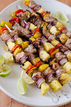 Grilled Pork Kabobs - Griled Pork Kebabs with Southeast Asian Marinade - Seeded At The Table Kabob Recipes, Grilling Recipes, Pork Recipes, Wine Recipes, Cooking Recipes, Healthy Recipes, Barbecue Recipes, Meatball Recipes, Healthy Meals