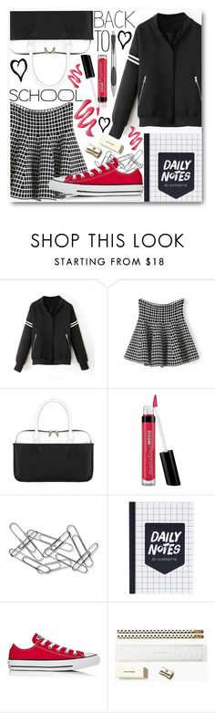 """""""Back To School"""" by black-fashion83 ❤ liked on Polyvore featuring Bare Escentuals, Home Decorators Collection, Converse, Kate Spade and Alessi"""