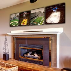 Chicago Sports Stadium Set -  4 Canvas Prints. $170.00, via Etsy. If it was much cheaper I'd buy this now!!