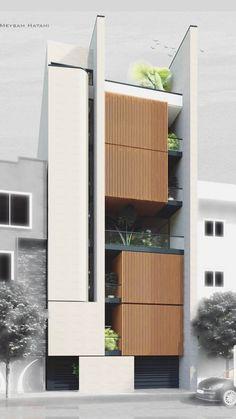 Condominium Architecture, Architecture Building Design, Home Building Design, Building Exterior, Building Facade, Facade Design, Residential Architecture, Modern Exterior House Designs, Dream House Exterior