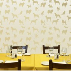 y'all. I loved the doggie wallpaper I saw everywhere so I asked my friends from @Walls Need Love if they had something similar--OH my word--these doggie decals are killing me--coming to a boys bathroom in my house! And renter friendly!!