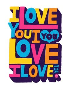 FoT Erik Marinovich I love You B in Type / Lettering Typography Love, Typography Letters, Beatles, Wallpaper Gratis, Pop Art, All You Need Is Love, My Love, Just Like Heaven, Pink Envelopes
