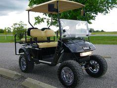 Harley davidson club car golf cart swag pinterest golf carts 2007 ezgo golf cart jakes lift kit 12 aluminum rims with x trail solutioingenieria Images