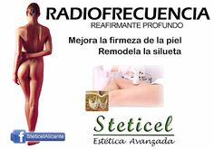 RADIOFRECUENCIA CORPORAL    Tratamiento médico-estético reafirmante profundo.  Más info: http://steticel.blogspot.com.es/2017/03/radiofrecuencia-corporal.html   STETICEL, estética avanzada Pintor Aparicio, 16. 03003 Alicante 965 927 556