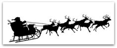 Santa Claus with Reindeer Sleigh Symbol - Black Silhouette ~ Clip Art Silhouette Cameo Natal, Silhouette Cameo Weihnachten, Santa Sleigh Silhouette, Silhouette Cameo Christmas, Silhouette Clip Art, Black Silhouette, Top Hat Drawing, Santa Claus Vector, Reindeer And Sleigh