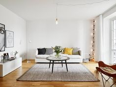 An airy apartment in Sweden