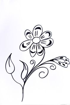 Lettering- Line drawing- Motivation: How to draw flowers 33
