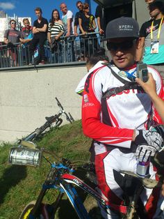 Markus Pekoll from Austria ranked Nr. 9 at UCI Downhill Worldchampionships in #Leogang