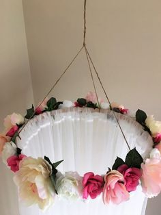 This beautiful hand crafted, floral canopy would be a gorgeous addition to a lit. - This beautiful hand crafted, floral canopy would be a gorgeous addition to a little girls room, abo - Girls Canopy, Diy Canopy, Tulle Canopy, Canopy Crib, Canopies, Nursery Room, Girl Nursery, Nursery Decor, Bedroom