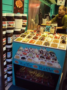 Waffles in Brussels (Belgian)