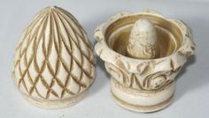 Antique Victorian Acorn Style Thimble Holder Hand Carved | eBay
