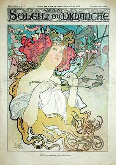 The official site of the Mucha Foundation. A comprehensive resource for information on Alphonse Mucha (or Alfons Mucha) with details on his life, the Mucha Trust Collection, news, exhibitions, events and publications. Art Nouveau Mucha, Alphonse Mucha Art, Art Nouveau Poster, Vintage French Posters, Art Vintage, Illustration Art Nouveau, Book Illustration, Art Français, Jugendstil Design