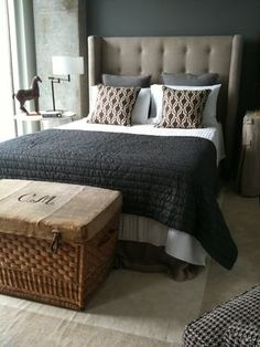 Most Design Ideas Masculine Master Bedroom Pictures, And Inspiration – Modern House Masculine Master Bedroom, Masculine Bedding, Masculine Room, Master Bedroom Design, Home Bedroom, Bedroom Decor, Bedroom Ideas, Lux Bedroom, Gray Bedroom