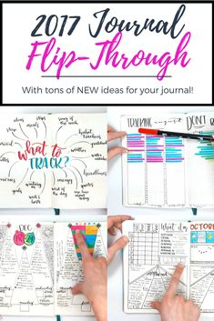 Part 2 of my 2017 Flip-Through! Learn tons of new tracker & page ideas for your journal!