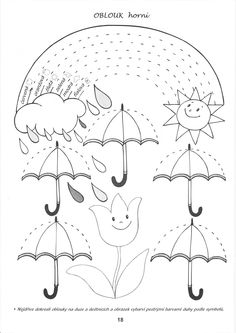 Spring rain ☔️ rainbow tracing page April Preschool, Preschool Writing, Free Preschool, Writing Activities, Preschool Activities, Tracing Worksheets, Kindergarten Worksheets, Worksheets For Kids, In Kindergarten