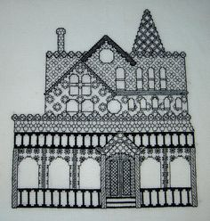 blackwork | Victorian House Blackwork - | Flickr - Photo Sharing!