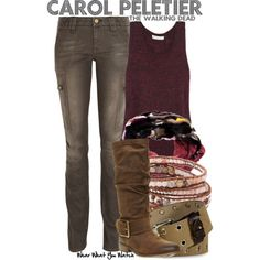 Inspired by Melissa McBride as Carol Peletier on The Walking Dead.