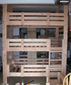 Heavy Duty Solid Wood Custom Made Triple Bunk by Elitedecorecom, $299.00