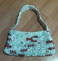 Cute plarn purse made from recycled plastic bags