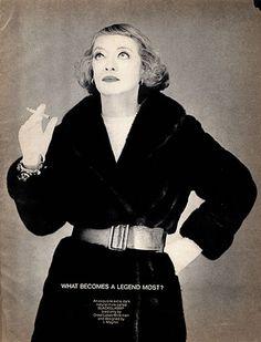 "Bette Davis - Blackglama Mink ""What Becomes A Legend Most?"" Ad Campaign (1968)."