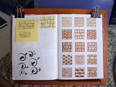 Bricks and brick layouts; ideas for fairy houses./village