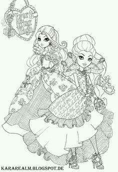 Ever After High Coloring Pages Books Colouring Vintage Printable Sheets