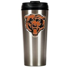 Chicago Bears 16 oz Stainless Steel Travel Mug