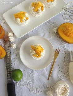 Mini Pavlova, Meringue Pavlova, Macarons, Panna Cotta, Menu, Eggs, Passion, Cooking, Breakfast