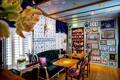 Misc Eatdrinksleep is located in a renovated century canal house. Dam Square, Delft Tiles, Red Light District, Comfy Bed, Mini Fridge, Old Maps, Great Night, Vintage Chairs, Cafe Bar
